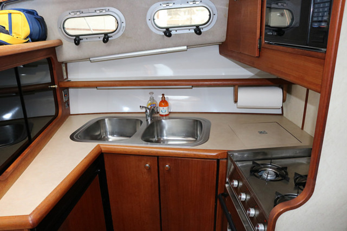Typical galley on a smaller pleasure boat