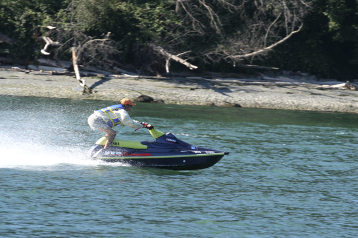 Jet skiing is a very popular sport around these waters!