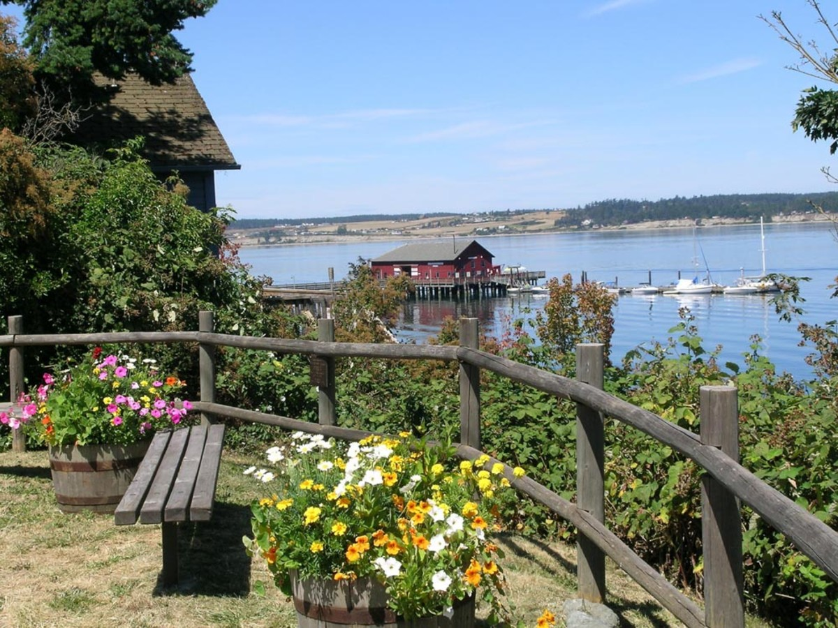 Coupeville Warf in summer time