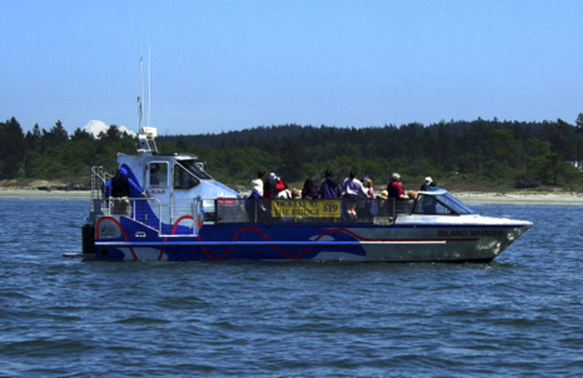 Jet boat that will take you on a grand tour of the straits of Juan De Fuca.
