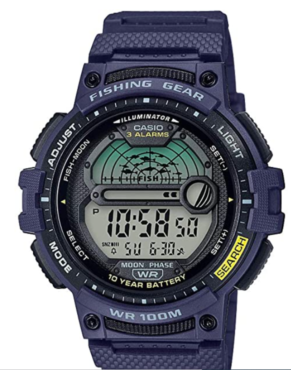 Inexpensive fishing watch from Casio.