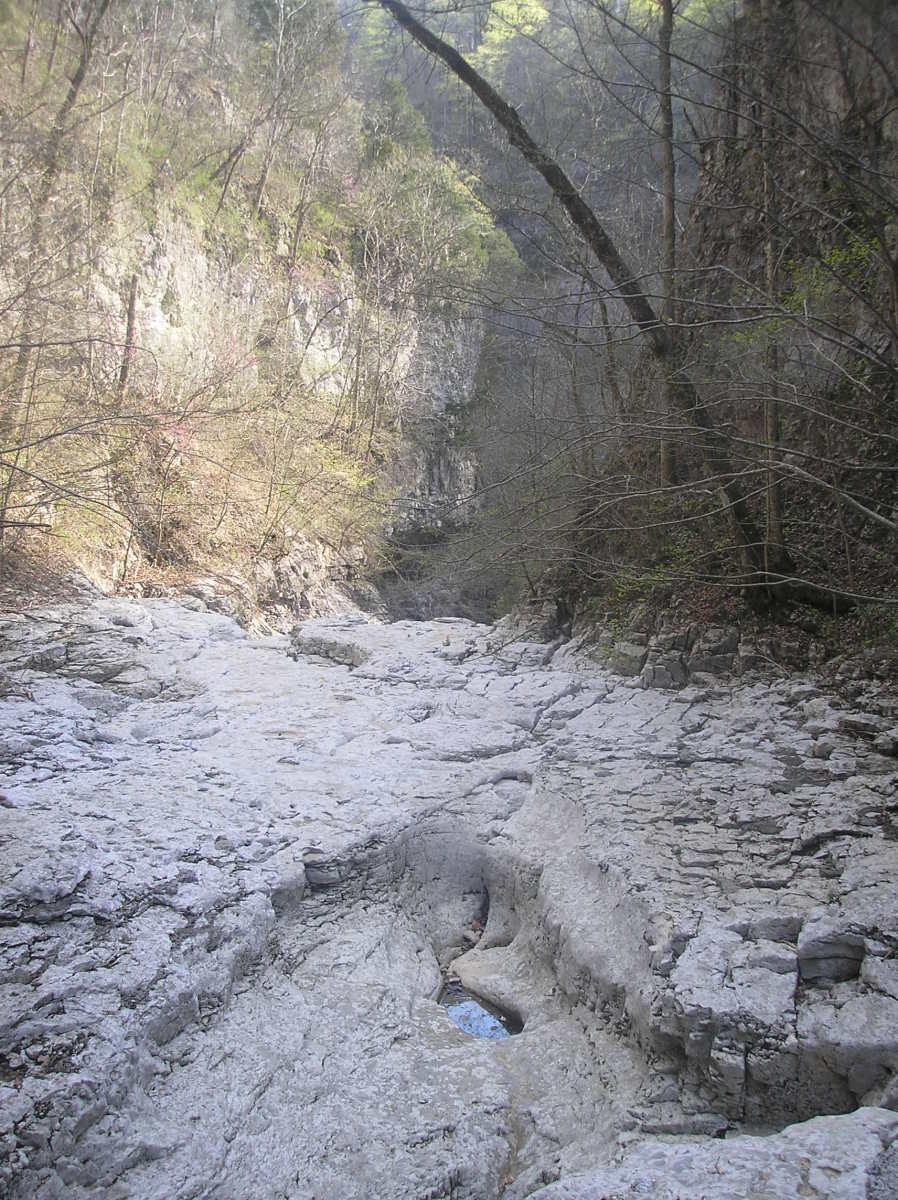 When the water isn't flowing high you can walk down the riverbed - Walls of Jericho