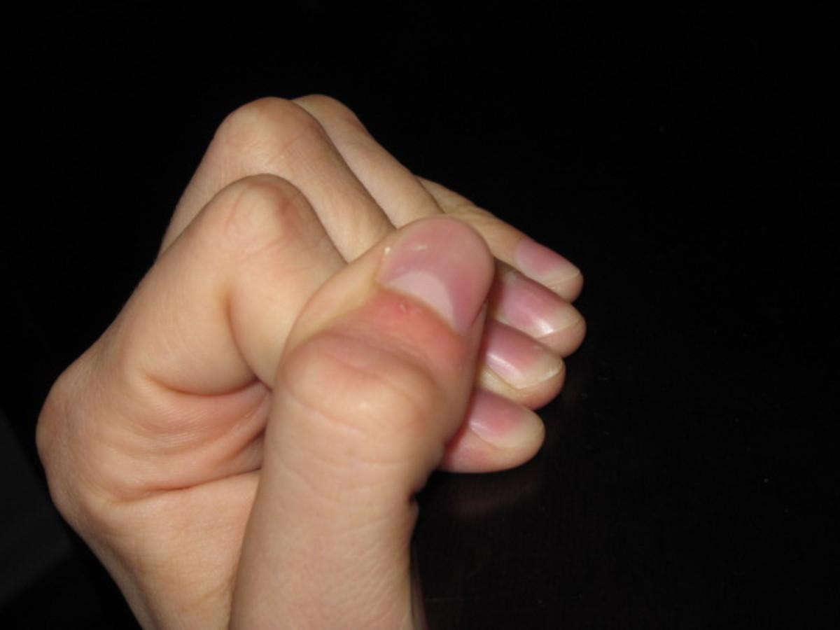Closed grip like on a crimp.