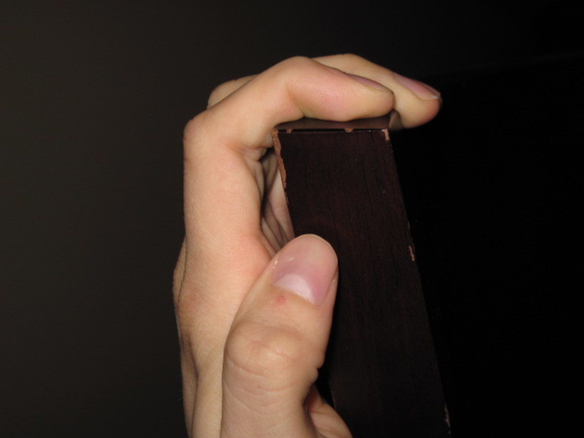 Open grip like used on an edge.