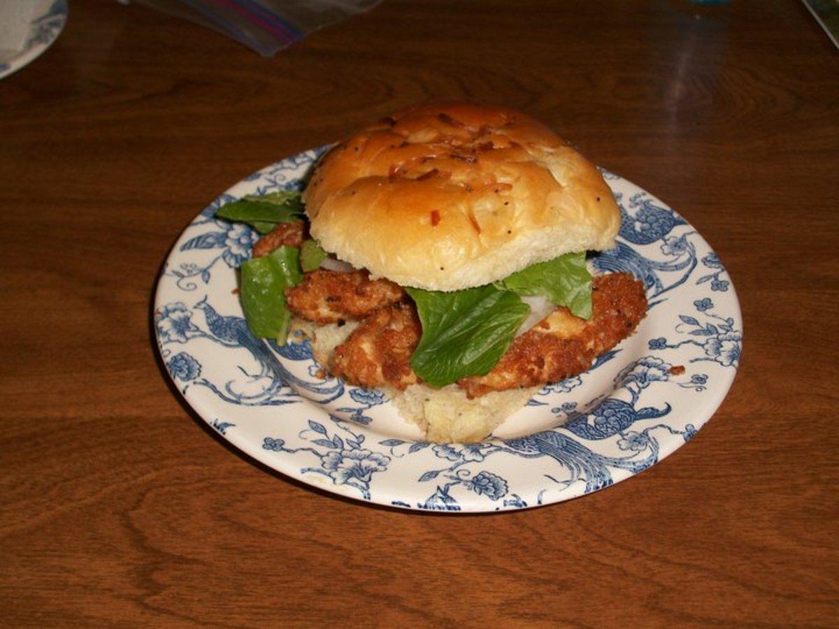 Fried Sheepshead Sandwich