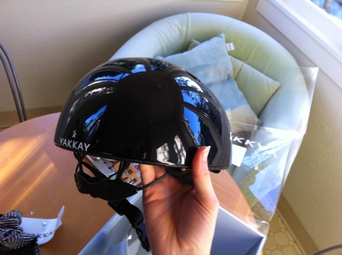 The helmet- discrete but more substantial than earlier versions