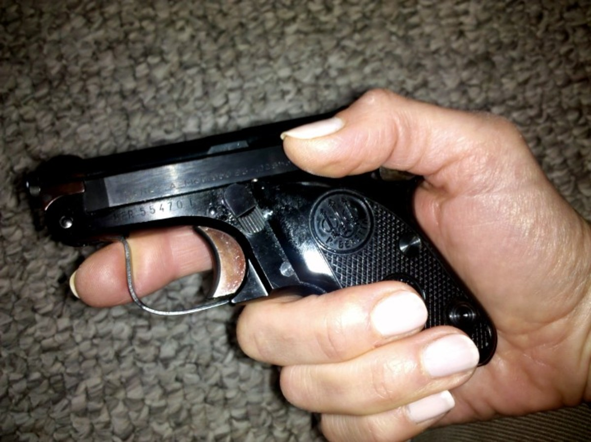 """Beretta Minx pistol, .22 short, manufactured about 1978. The Beretta Bobcat is similar. I call this my """"piff"""" gun. The dealer calls it """"a belly gun."""""""