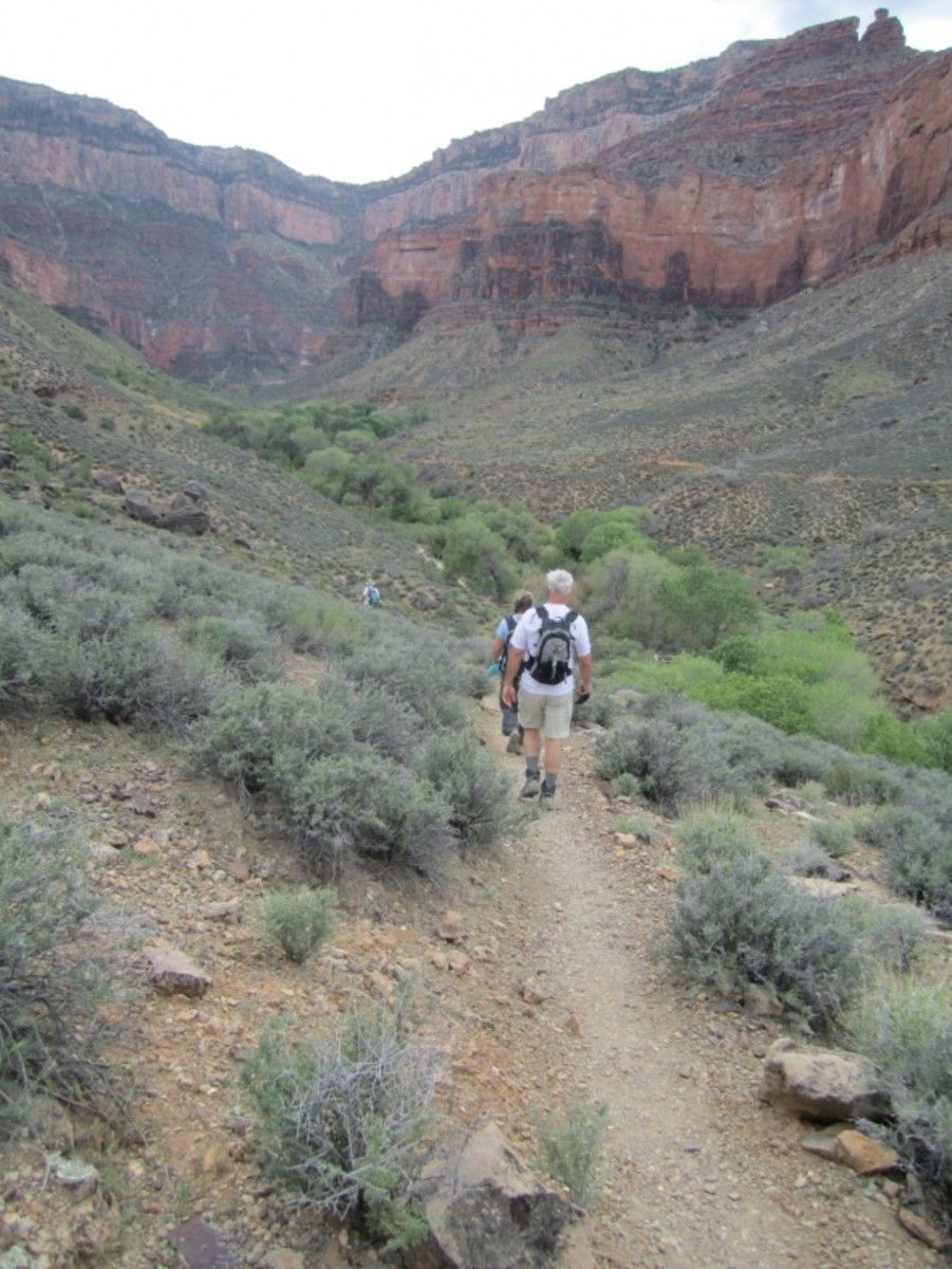 Tonto Trail junction with Bright Angel Trail