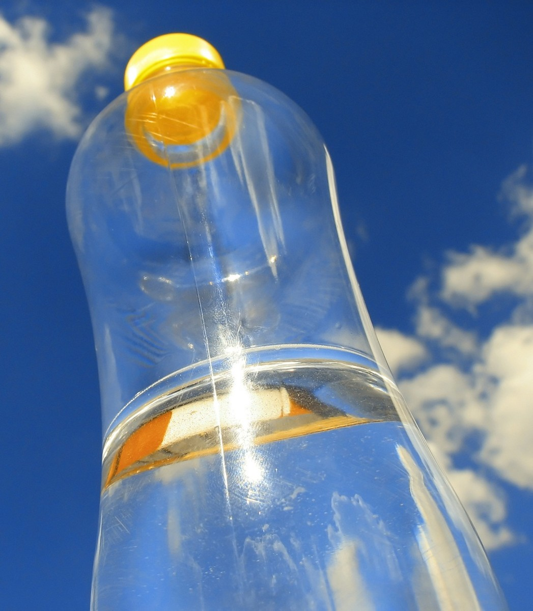The UV-A radiation from the sun can kill bacteria and make water safe to drink.