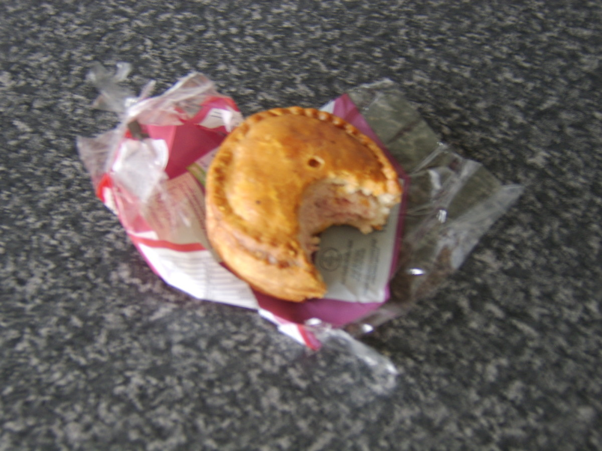 Prepacked pork pies are extremely fisherman friendly, however unclean your hands