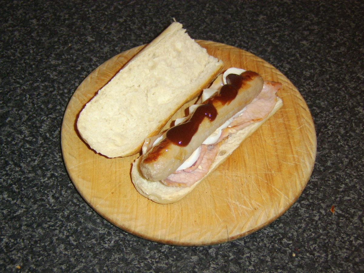 HP Sauce is optional, but a delicious addition.