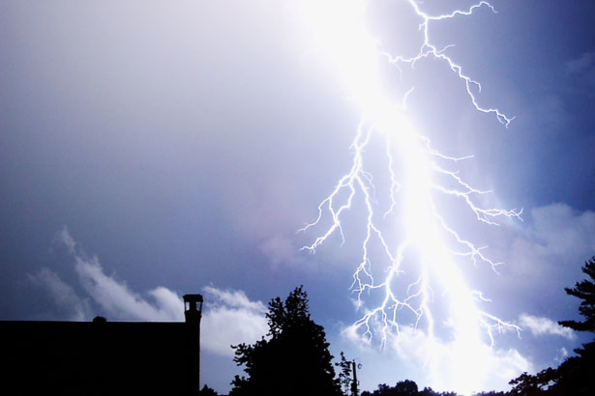 A powerful lightning strike.