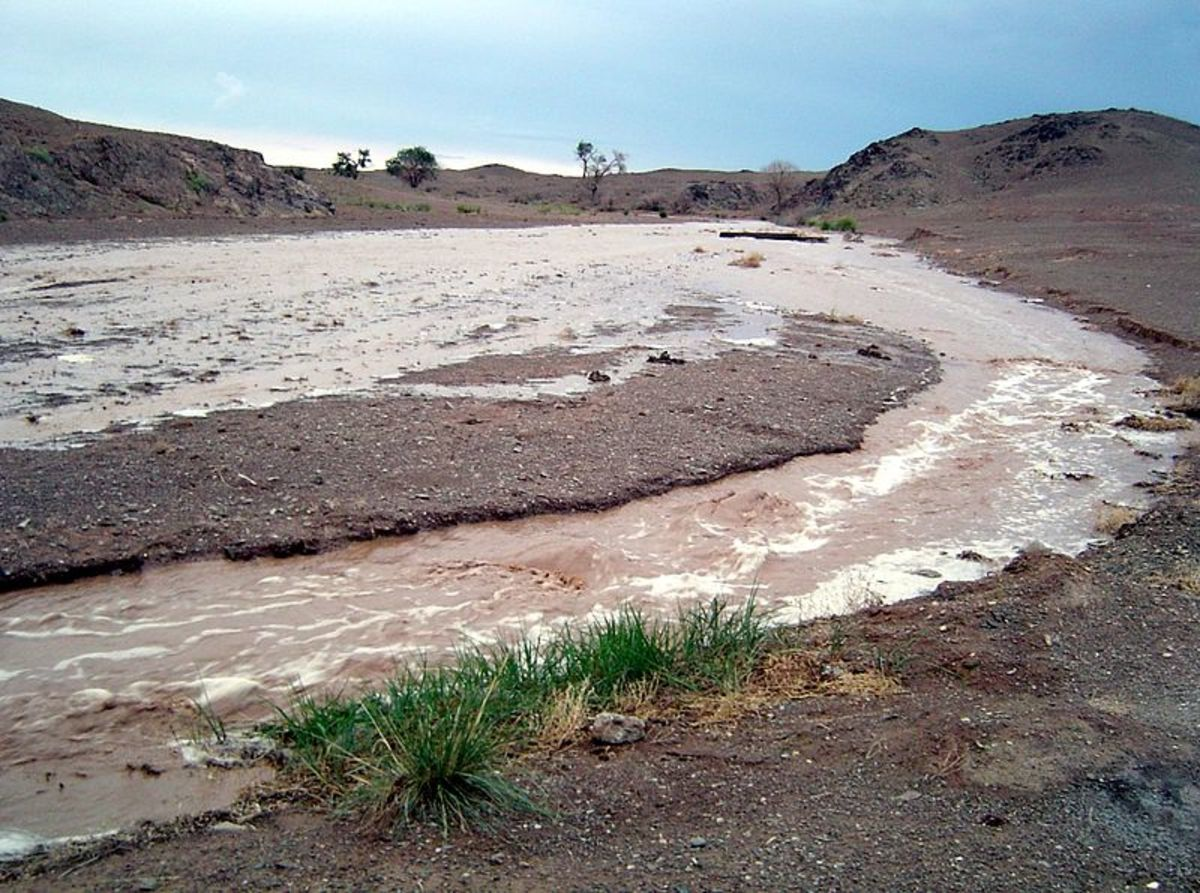 Flash flooding in Mongolia
