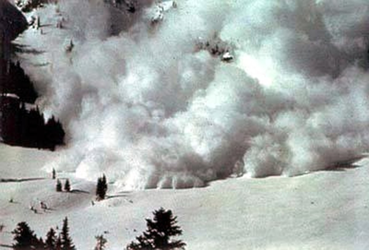 A powder snow avalanche.