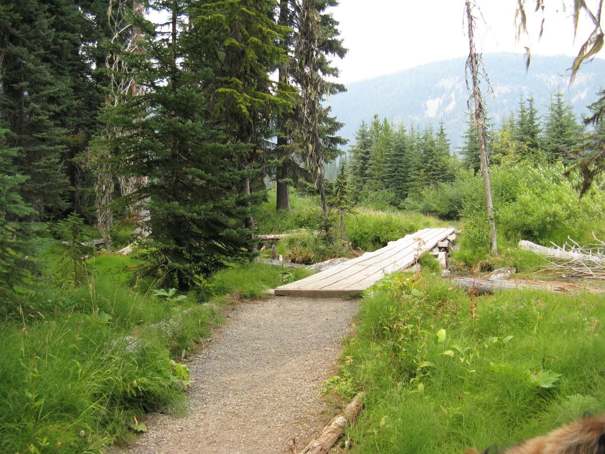 The trail around Lightning Lake