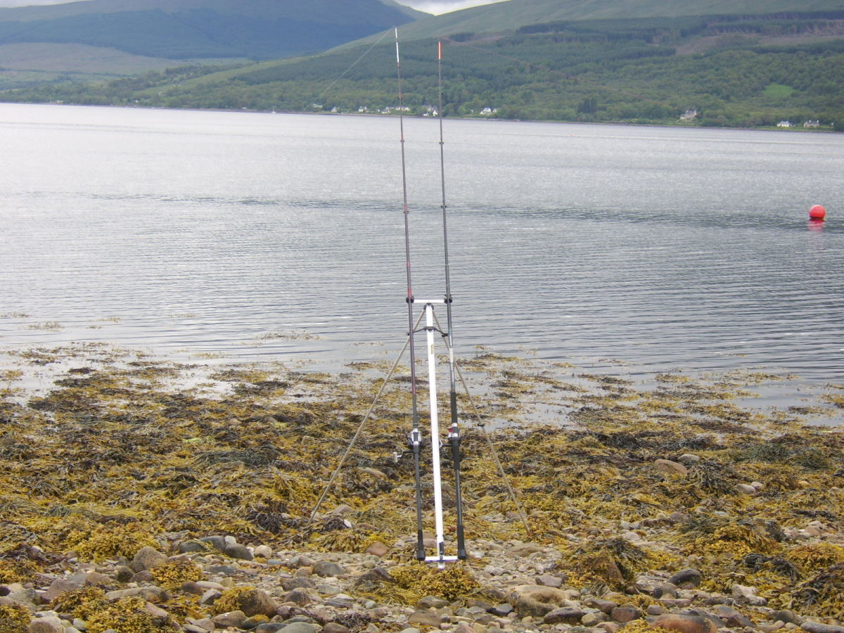 Beachcasters are the only viable option at this part of Loch Fyne