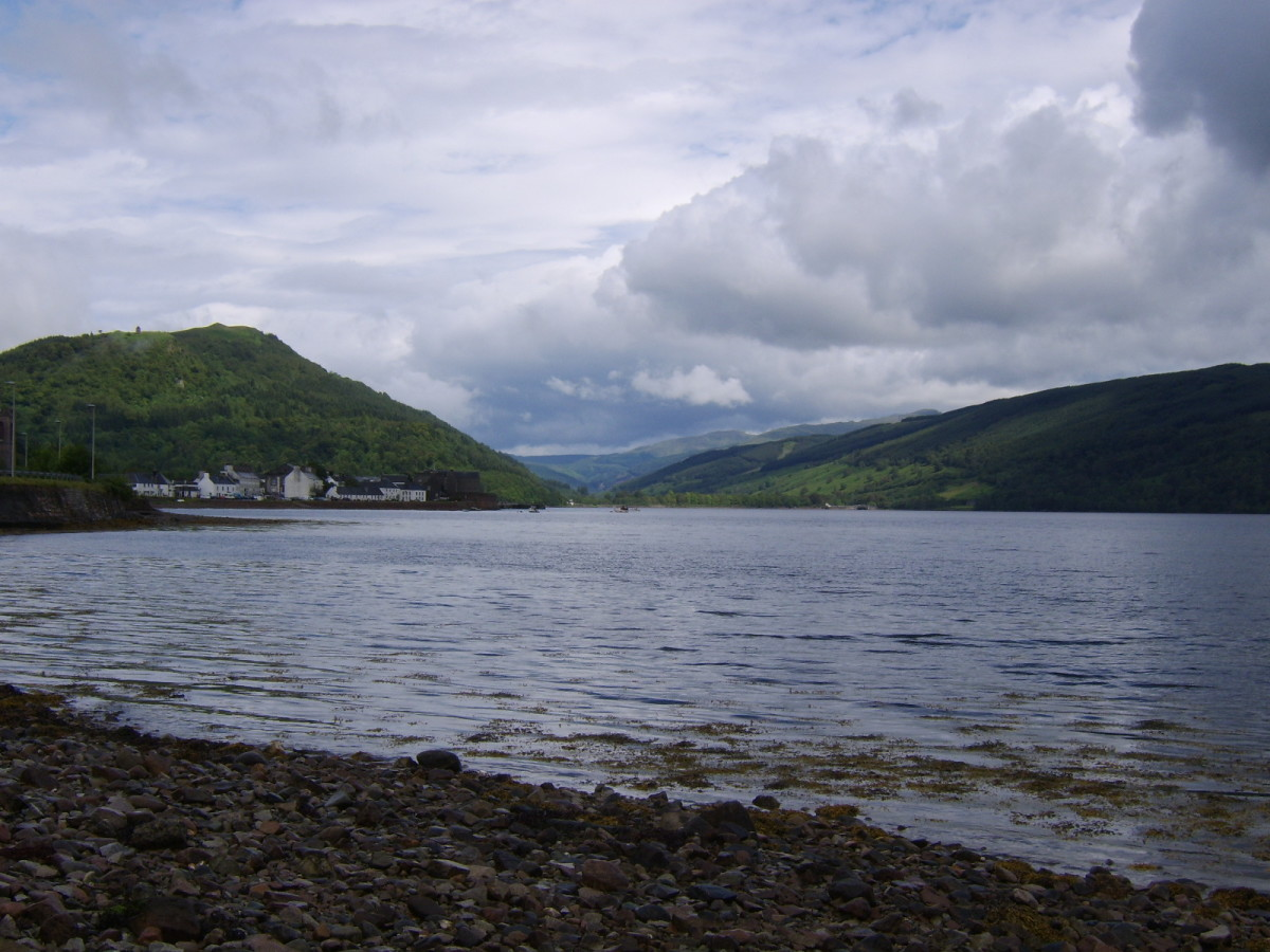 Looking in the direction of the Head of Loch Fyne (unseen and some miles distant)