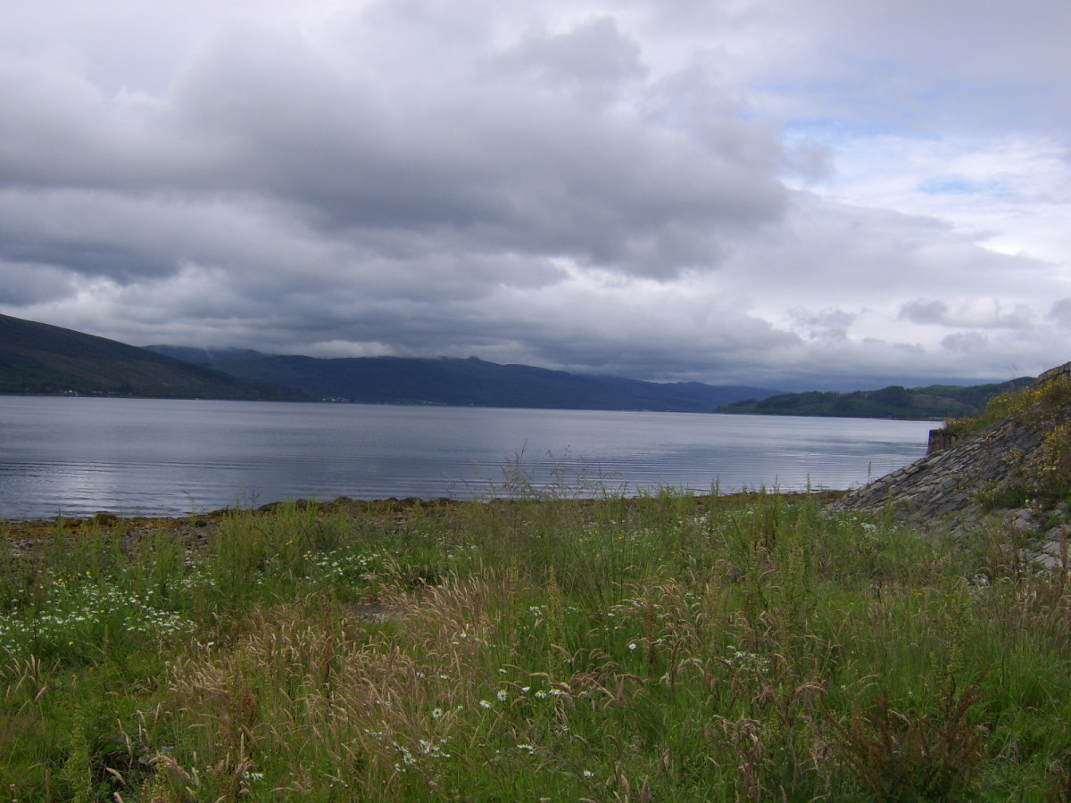 Looking South-West and further down Loch Fyne from the point where the cars were parked