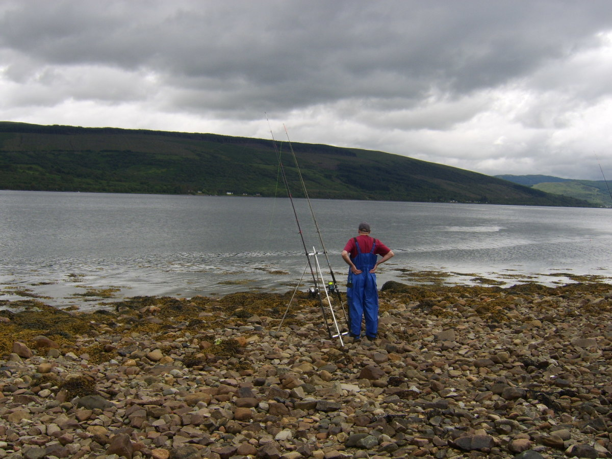 Dave playing the waiting game while fishing this part of Loch Fyne