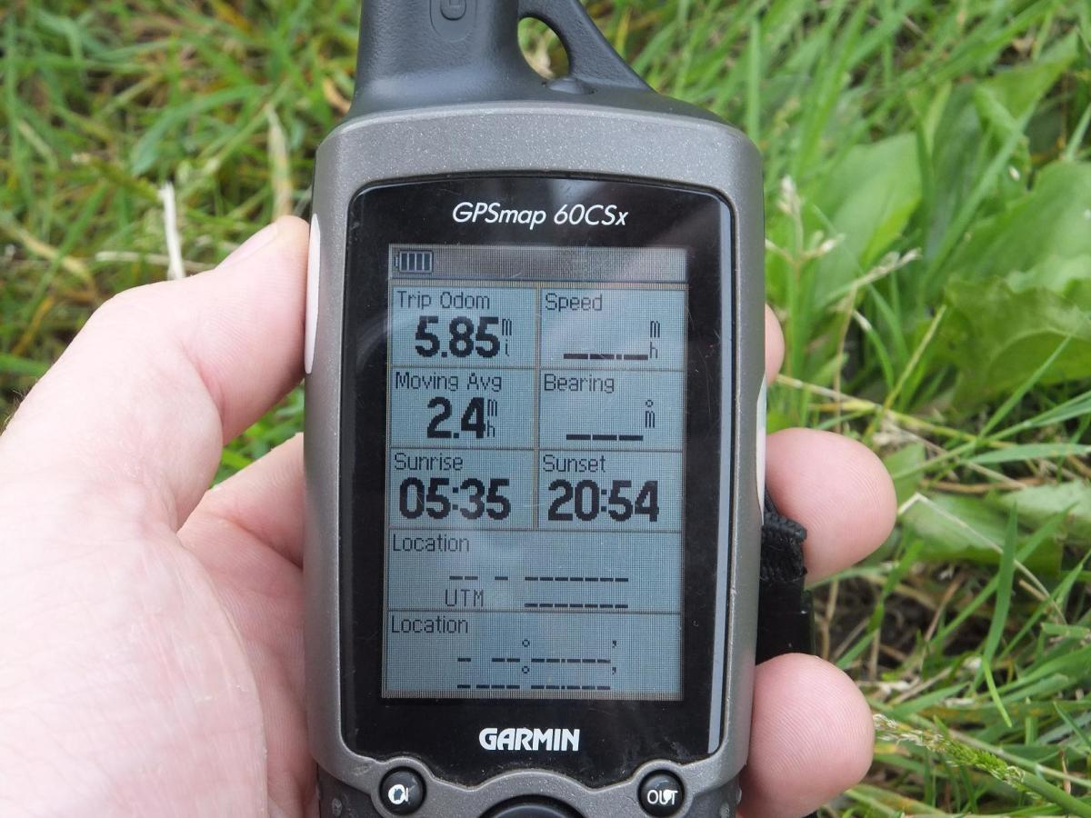 The trip computer is a great asset for keeping track of mileage and distances.  This is the trip computer on the Garmin Map 60CSX.