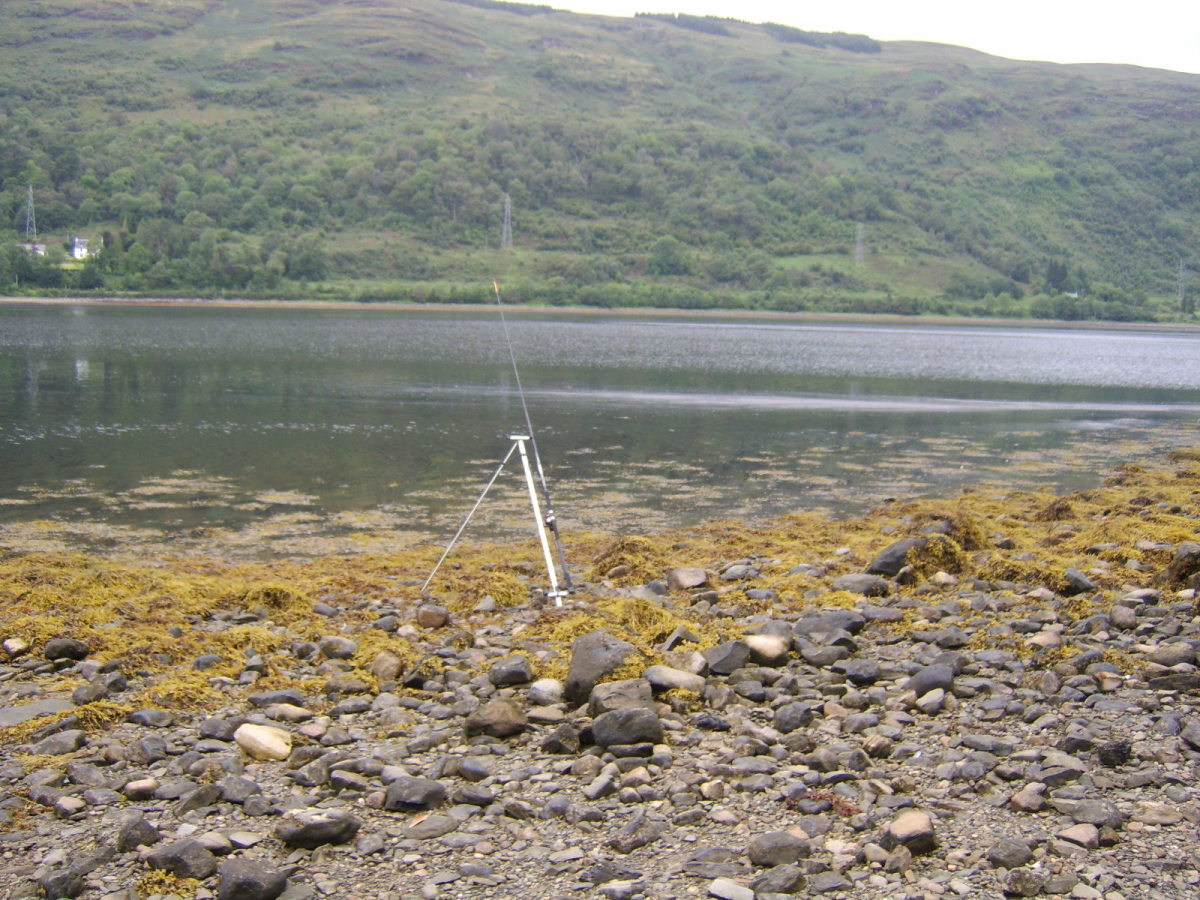 The water close to shore is very shallow at higher stages of the tide