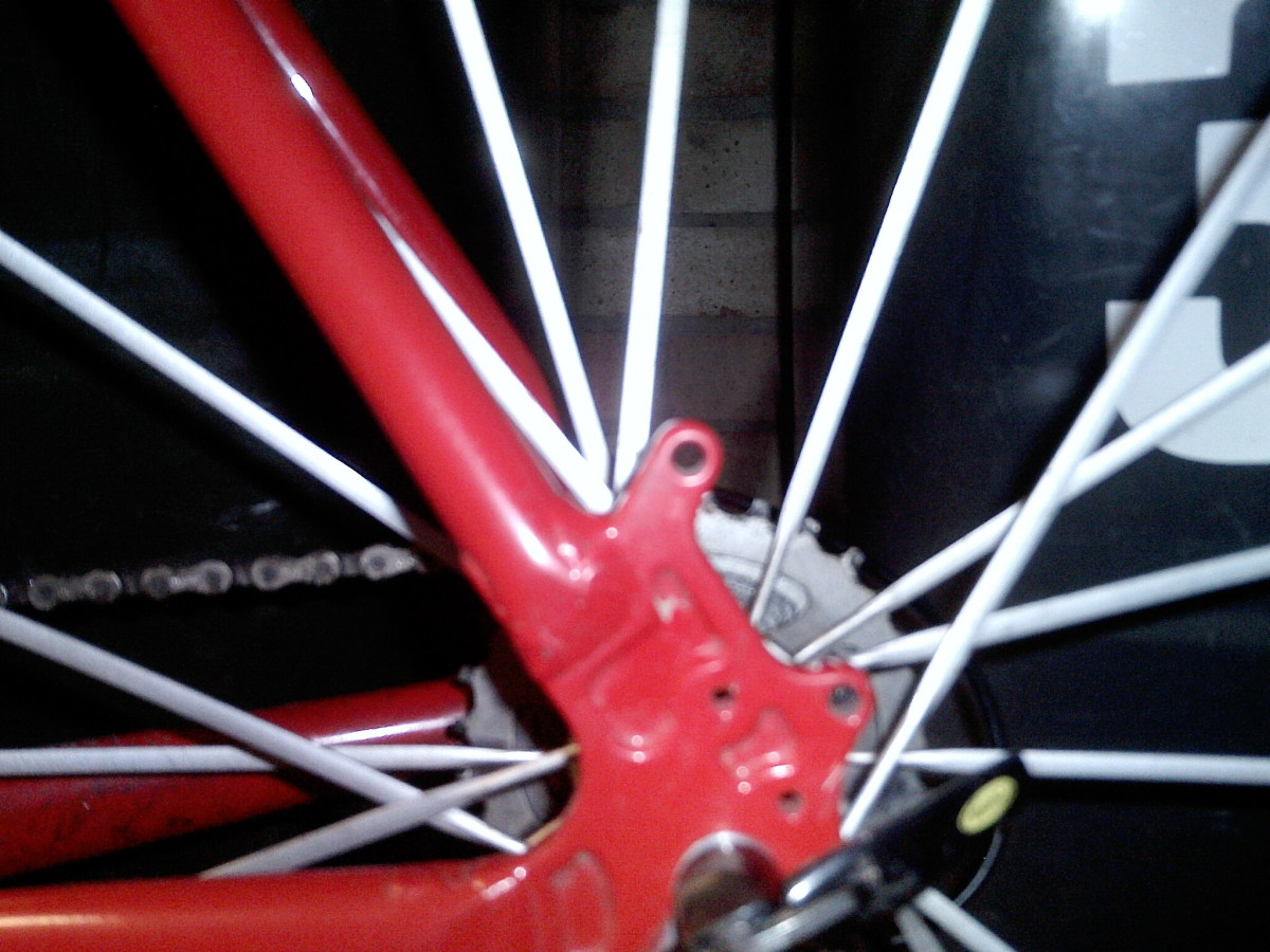 Disc Brake and mud guard fender mounts give great flexibility in use of the Uncle John Frameset
