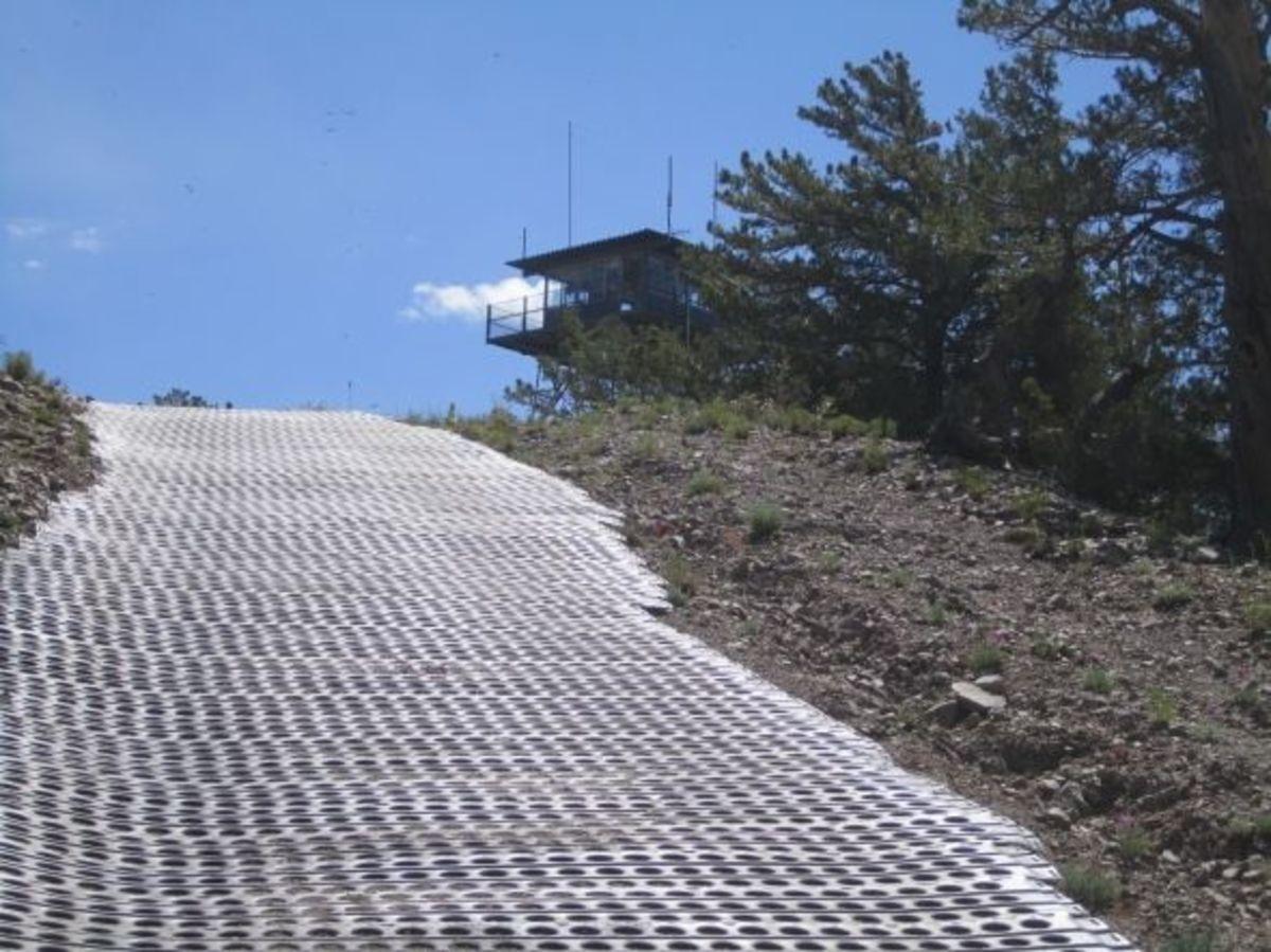 Erosion control near the O'Leary summit