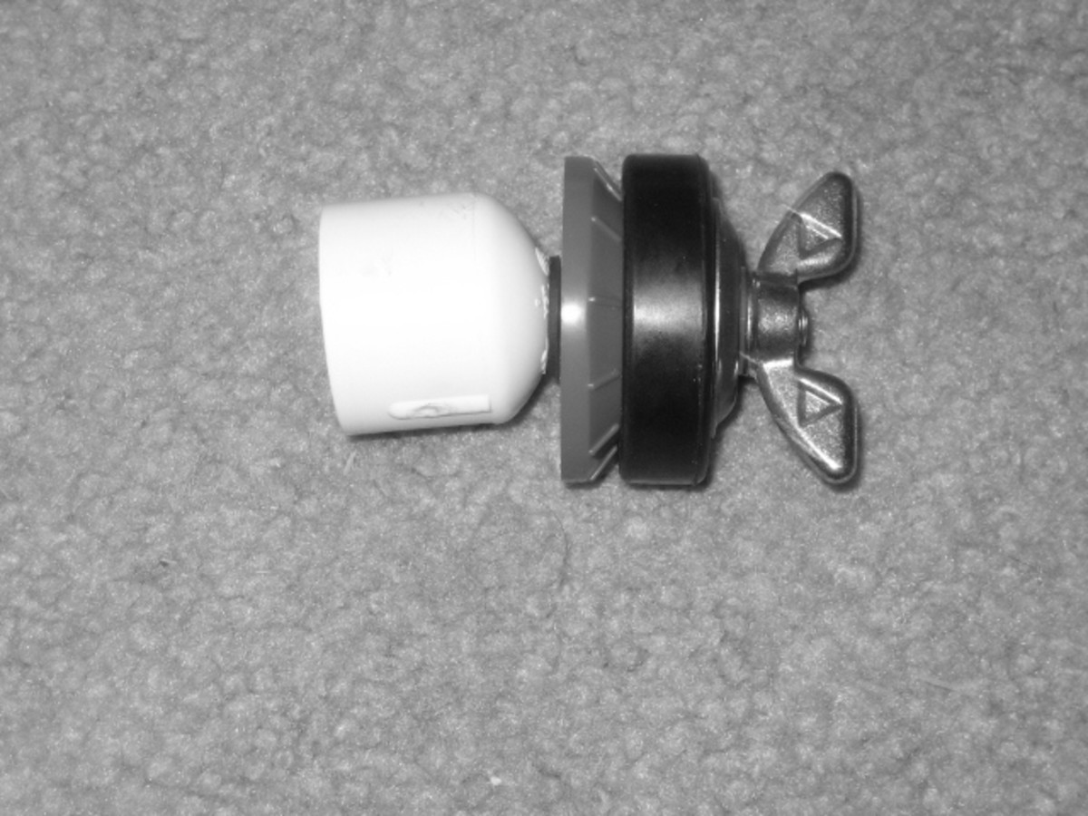 """Test Plug reassembled with the 1-5/8"""" Washer added."""