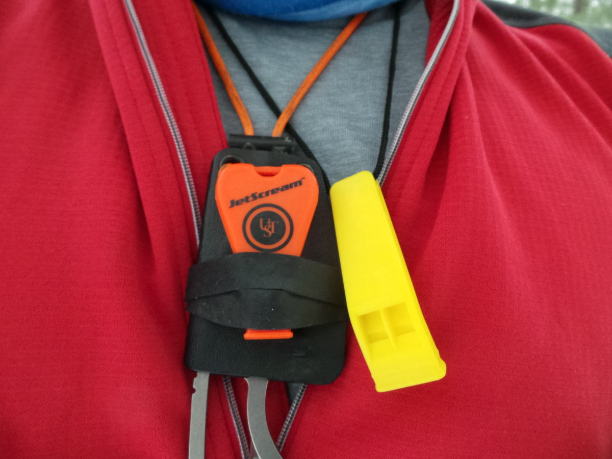Whistles are so important, that I usually carry two with me.