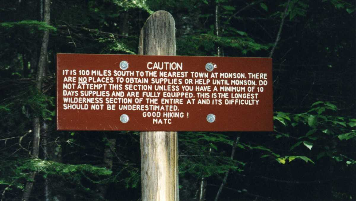 This sign greets hikers at the southbound entrance to Maine's famous 100-mile Wilderness. I experienced fantastic solitude in this section, only meeting one other hiker.  I was able to do the section in five-days.