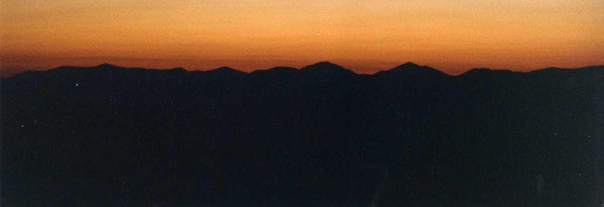 Walking into the sunrise over Tinker Ridge, Virginia.