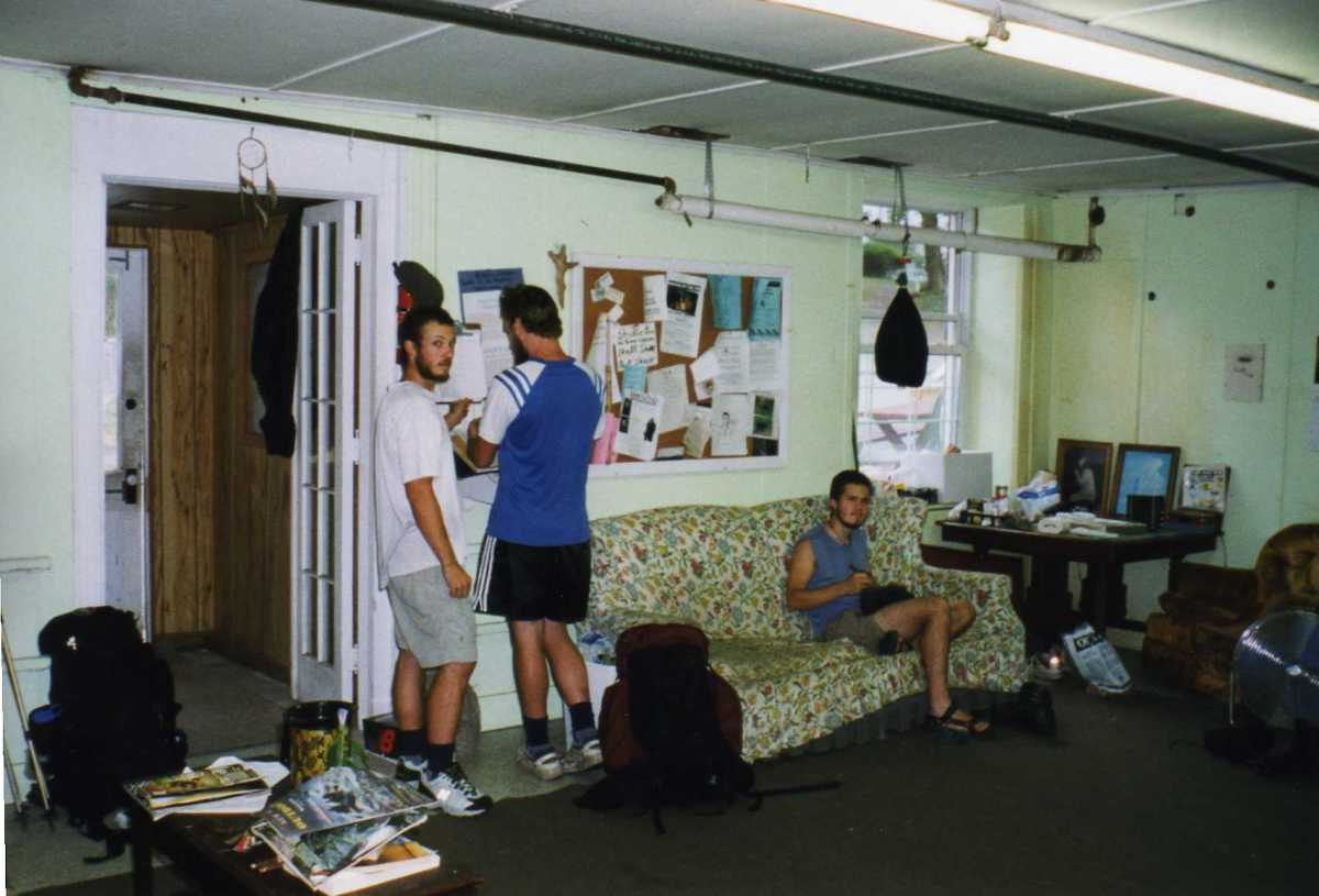 Hostels, like this one in Delaware Water Gap, offer a place to shower and do laundry while resupplying in town.