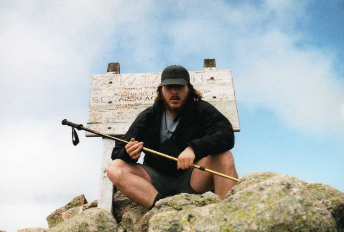 Here I am, Appalachian Trail day #1 on top of Katahdin.