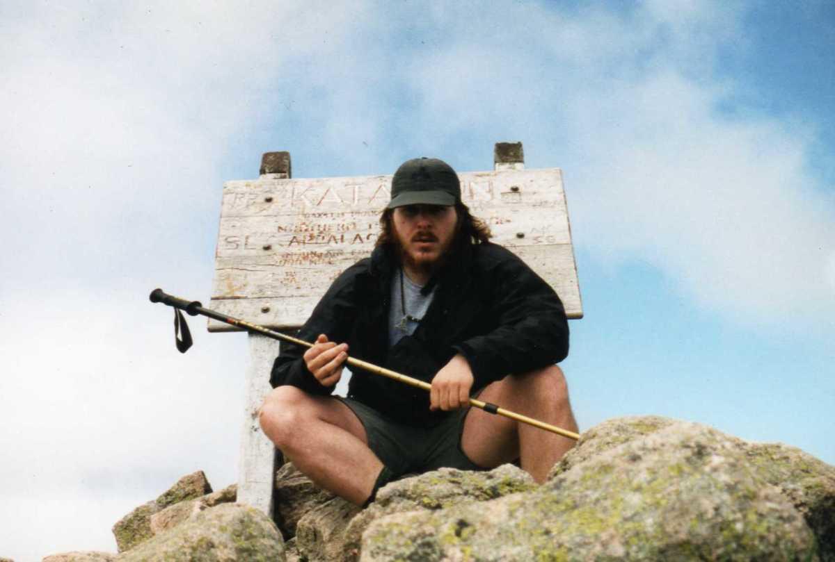 Here I am, Appalachian Trail day #1 on top of Katahdin.