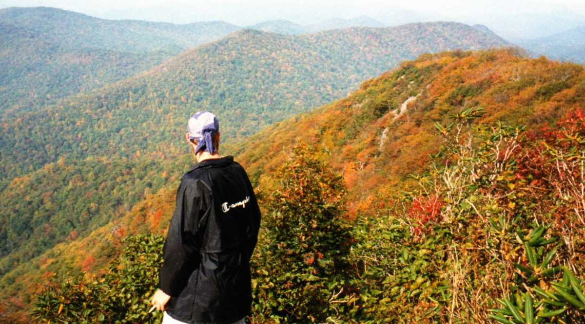 """Southern Comfort"" overlooks the North Carolina Mountains in Fall."