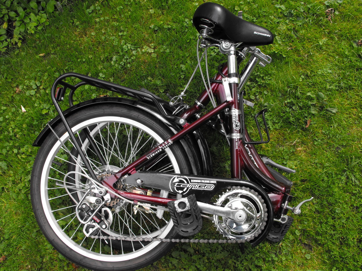 The Schwinn bike folded.