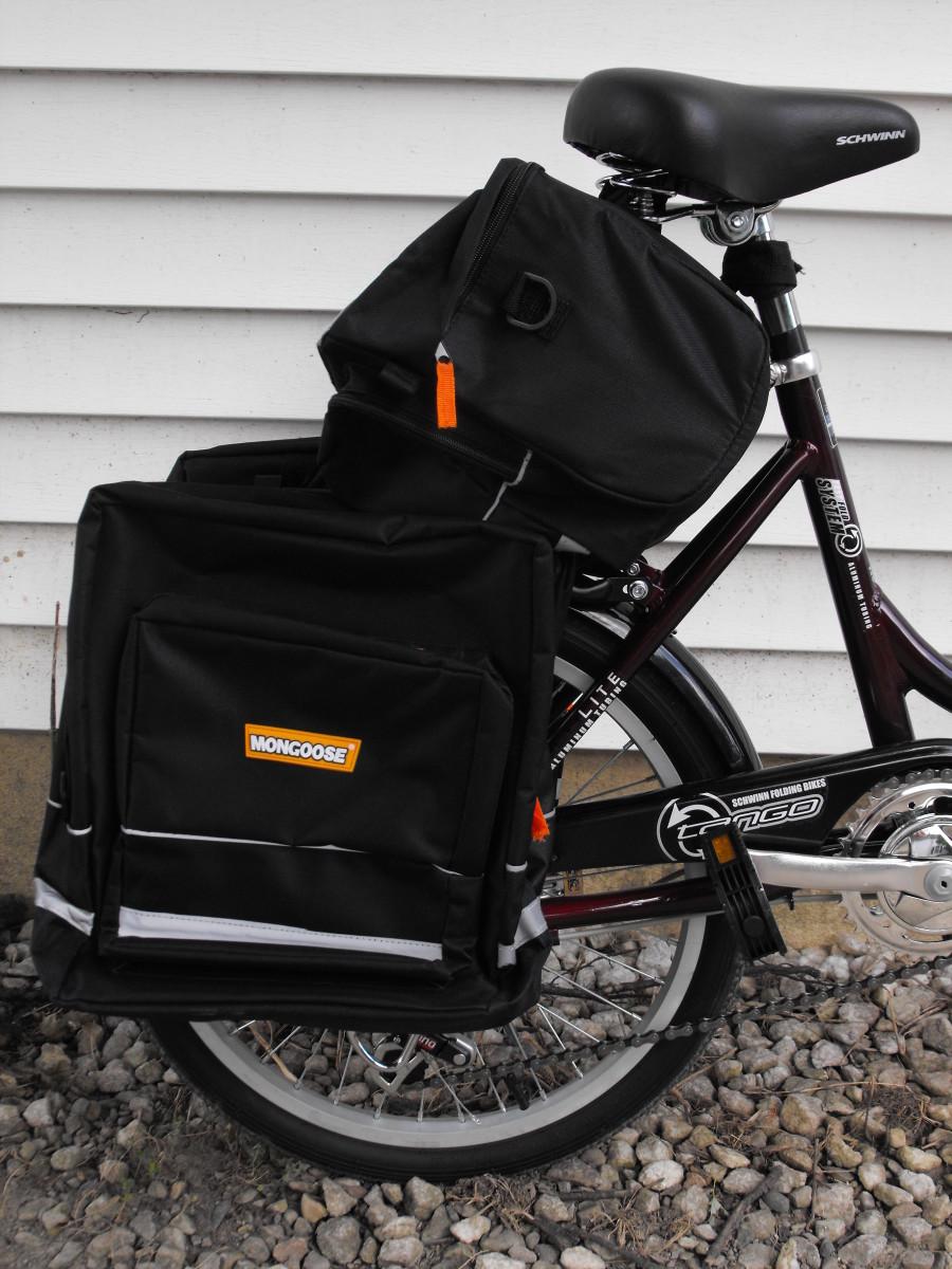 Schwinn with rear bags in place.