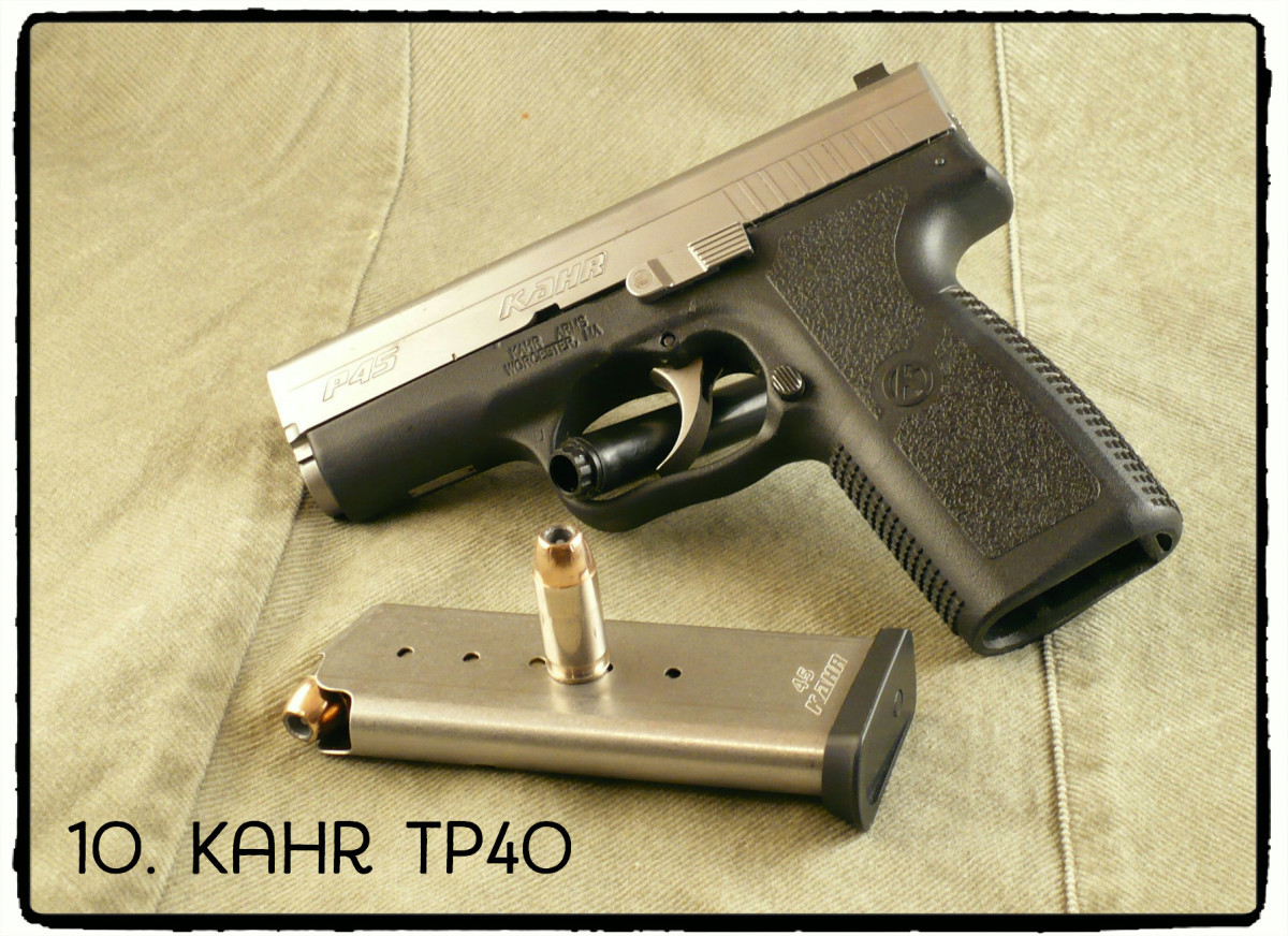 The Kahr TP40 is manufactured by Kahr Arms, which makes this model, the P45.