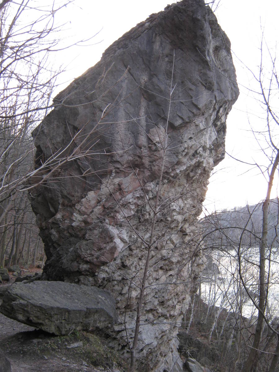 "At nearly two stories high, ""Giant Rock"" is a major landmark along this trail."
