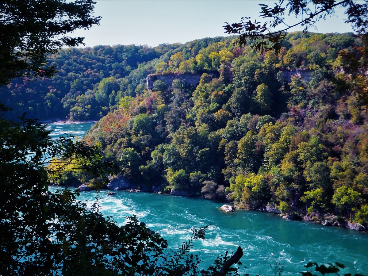 Looking toward Canada in the Niagara Gorge.