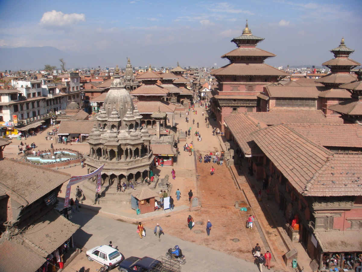 Roof top view of the old temples