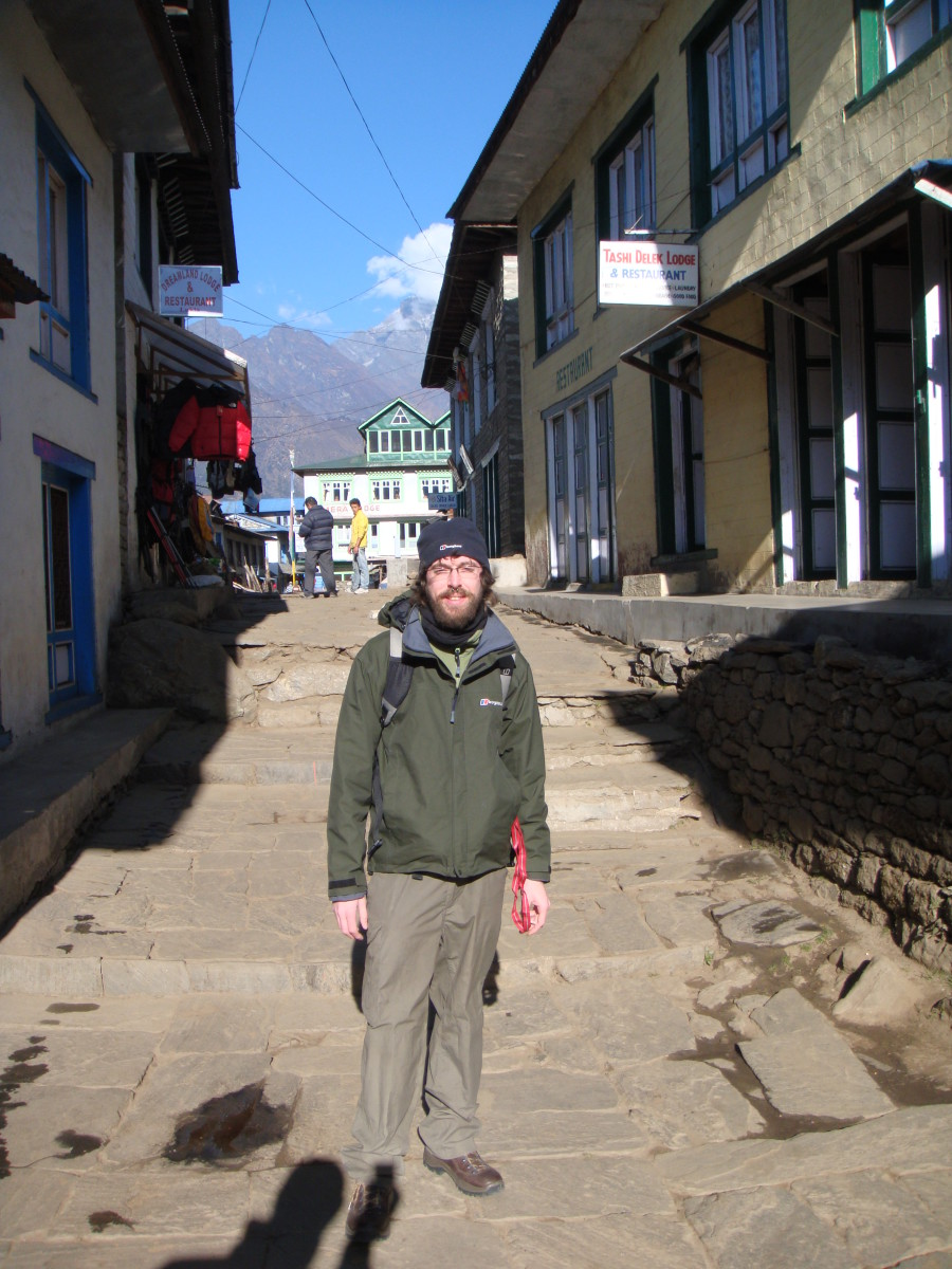 Me, in Lukla before I start the first day of trekking