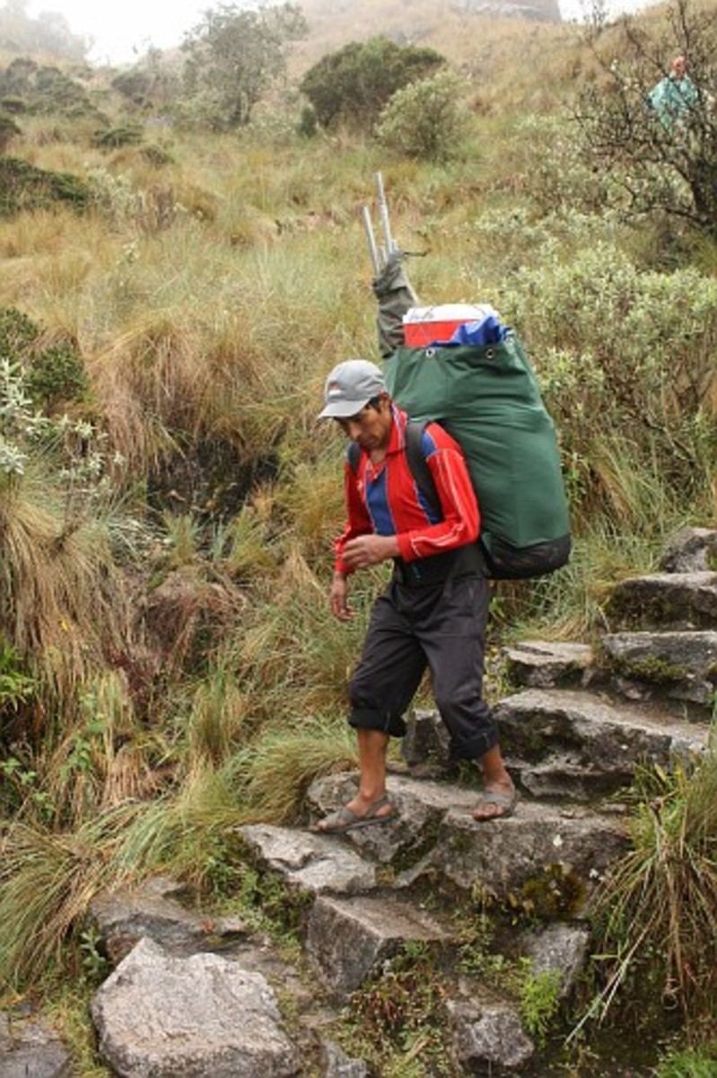 One of our porters at the Inca Trail