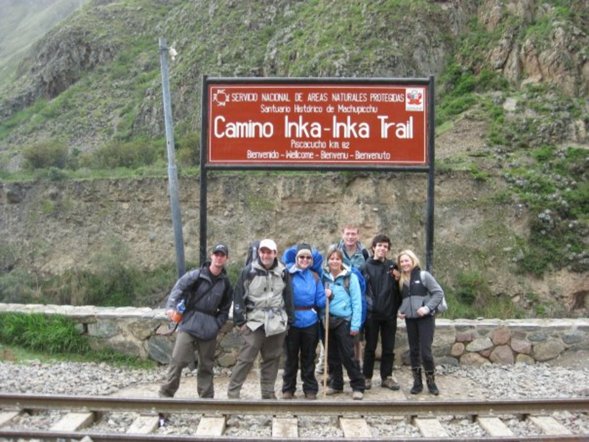This was our travel group for the 4 day Inca Trail and this is the beginning of the trail