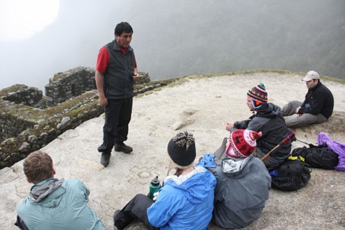 Our travel guide Martin giving our group a history lesson about the Incas