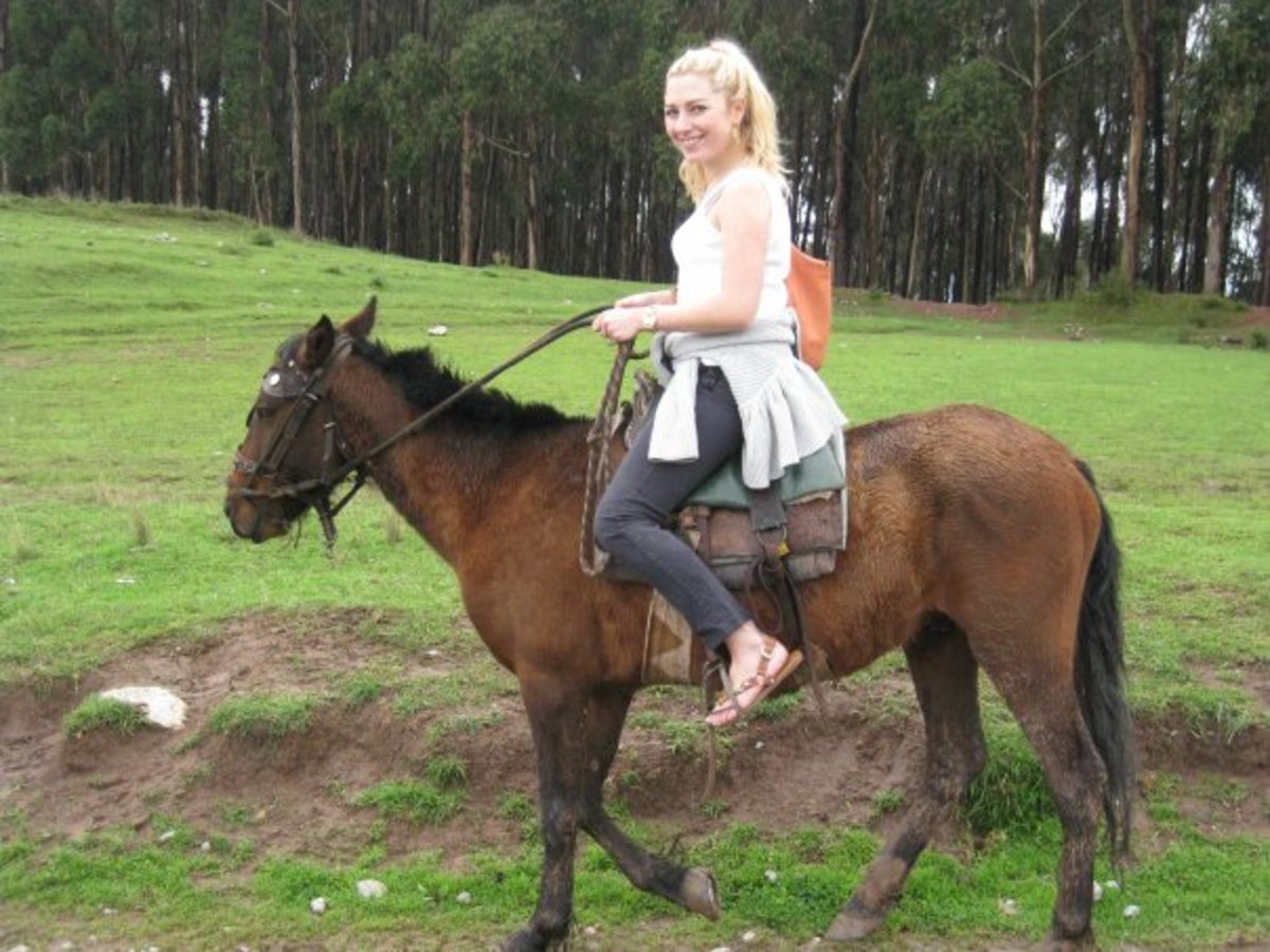 Horse riding outside of Cuzco
