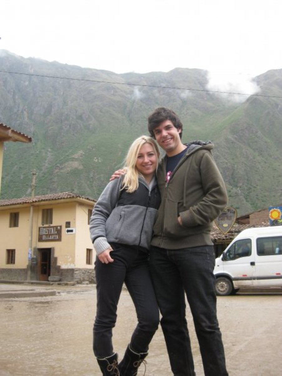 Aguas Caliente before starting the Inca Trail