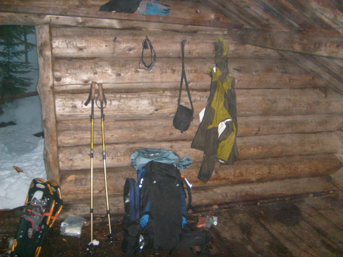 Lean-tos can offer solace from the fierce winter weather and give you a place to dry out your gear.