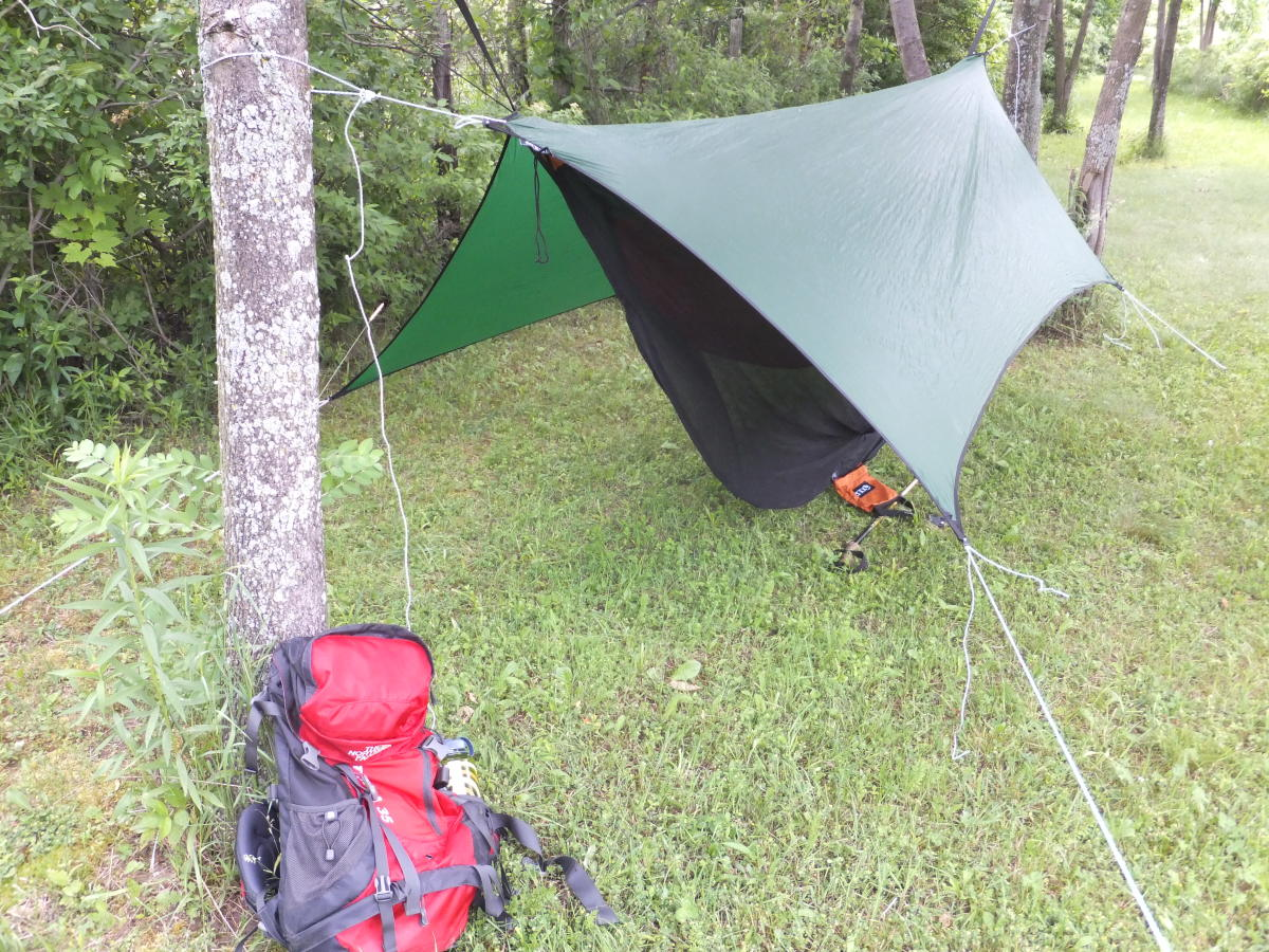 The North Face Terra at a hammock camp.