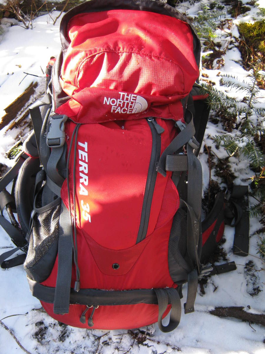 The Terra 35  works great as a winter day pack with plenty of room for layers, essentials, and climbing tools.